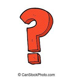 simbolo, domanda, cartone animato, marchio