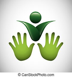 simbolo, ecologia, isolato, icona