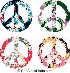 simbolo, fiore, segno pace