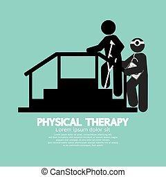 simbolo, fisico, nero, therapy.