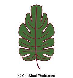 simbolo, foglia, natura