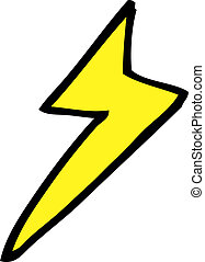 simbolo, freccia lampo, cartone animato