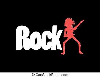 simbolo, fresco, roccia
