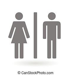 simbolo genere, maschio, femmina, icona