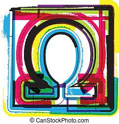 simbolo, grunge, colorito