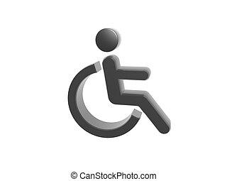 simbolo, incapacità, icona