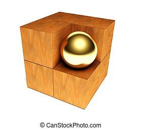 simbolo, individualismo, 3d, puzzle