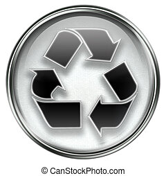 simbolo, isolato, fondo., grigio, bianco, icona