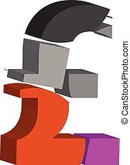 simbolo, libbra, 3d
