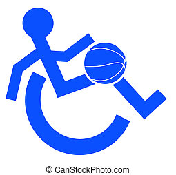 simbolo, logotipo, carrozzella, sport, o