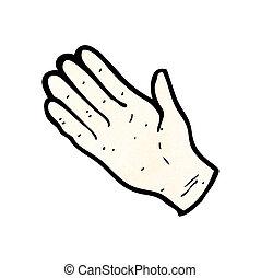 simbolo, mano aperta