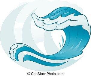 simbolo, mare, onda