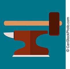 simbolo, martello, incudine