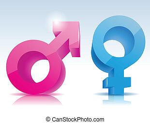 simbolo, maschio, femmina