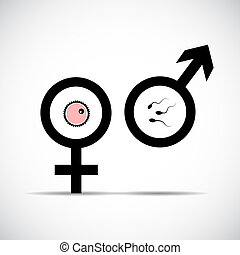 simbolo, maschio, procreazione, femmina