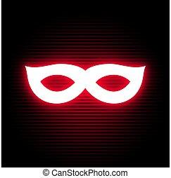 simbolo, neon, privato