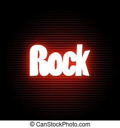 simbolo, neon, roccia