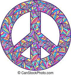 simbolo, pace, colorito