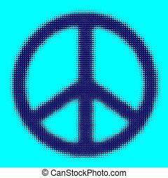 simbolo, pace, illustrazione, vettore, eps, 10, halftone