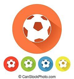 simbolo, palla calcio