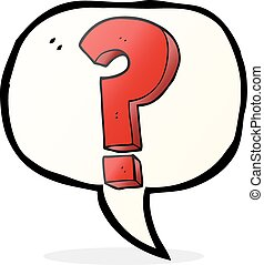 simbolo, punto interrogativo, bolla discorso, cartone animato
