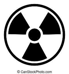 simbolo, radiazione, /, segno