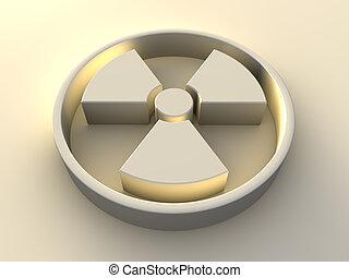 simbolo, radioattività