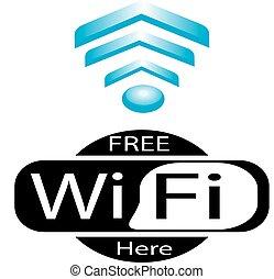 simbolo, rete, wifi, fili, icona