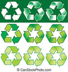 simbolo ricicla, vettore