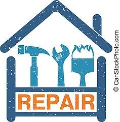 simbolo, riparazione casa