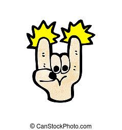 simbolo, roccia, cartone animato, segno