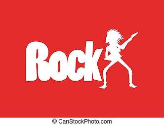 simbolo, roccia rossa