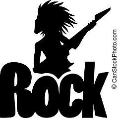 simbolo, roccia, uomo