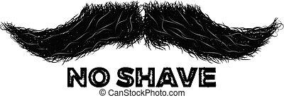 simbolo, segno, mascolinità, etichetta, o, baffi