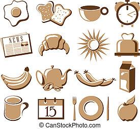 simbolo, set, mattina