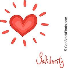 simbolo, solidarietà, cuore