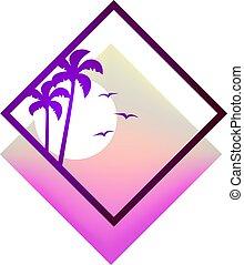 simbolo, spiaggia, bello
