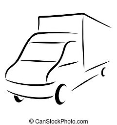 simbolo, strada, trasporto
