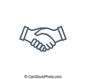 simbolo, stretta di mano, associazione, collaborazione, icona