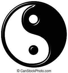 simbolo, tao, 3d