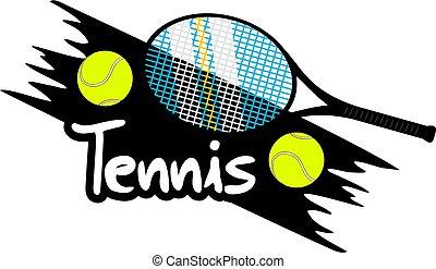 simbolo, tennis, bello