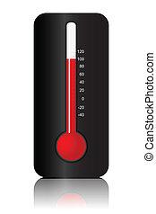 simbolo, termometro
