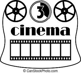 simbolo, vettore, cinema