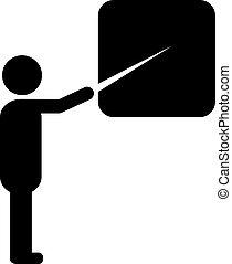 simbolo, vettore, insegnante