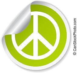 simbolo, vettore, pace