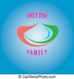 simbolo, vettore, soltanto, famiglia