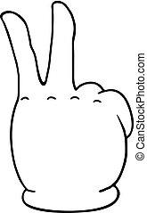 simbolo, vittoria, mano