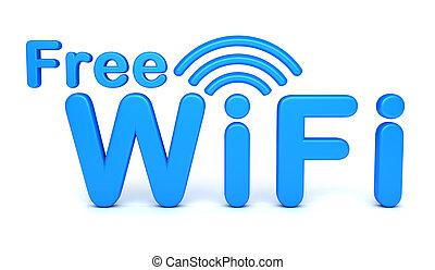 simbolo, wifi, libero