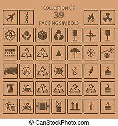 simbols, パッキング, backgrownd, コレクション