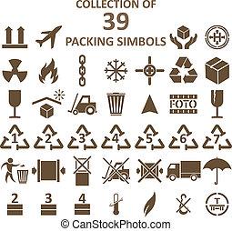 simbols, embalaje, colección